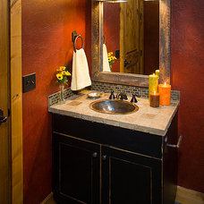 Traditional Powder Room by Teton Heritage Builders