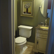 Traditional Powder Room by AWL Construction Ltd.