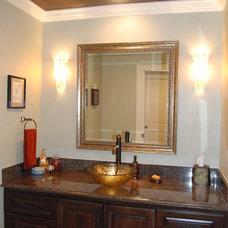 Traditional Powder Room by Kitchen & Bath Design Studio