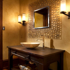 Rustic Powder Room by Locati Architects