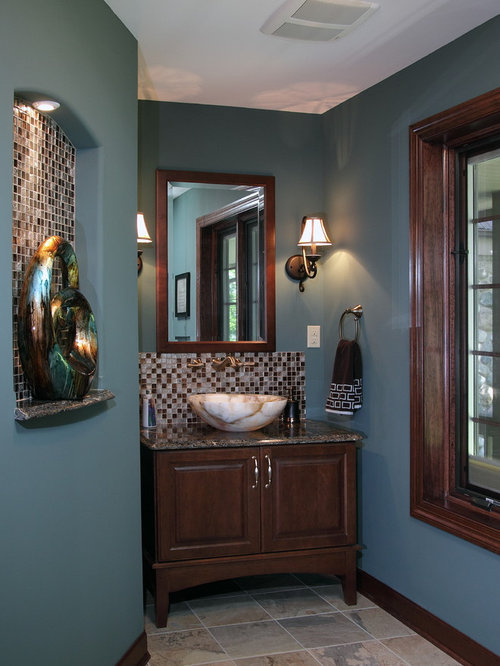 mirrors bathroom wall powder room paint color houzz 13702
