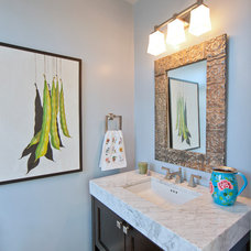 Transitional Powder Room by Kingston Design Remodeling