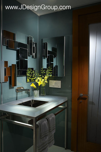 modern powder room by J Design Group - Interior Designers Miami - Modern