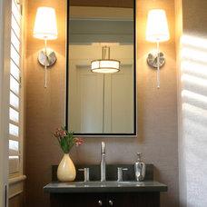 Contemporary Powder Room by r.design (Ra-me Interior Design)