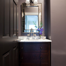 Traditional Powder Room by Emerald Hill Interiors