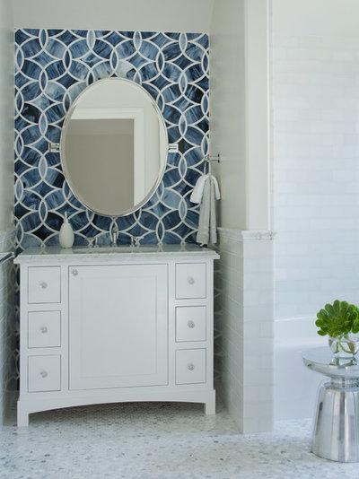 Contemporary Powder Room by Lizette Marie Interior Design
