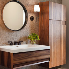 contemporary powder room by Lizette Marie Interior Design