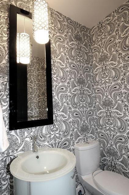 Contemporary Powder Room by Atmosphere Interior Design Inc.