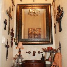 Traditional Powder Room Wilson Guest Bath