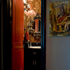 Asian Powder Room by Butterfield Custom Homes