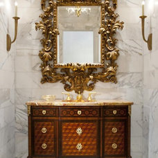 traditional powder room by Isler Homes