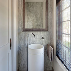 Contemporary Powder Room by Gina Bon, Airoom Architects & Builders LLC