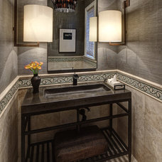Traditional Powder Room by Handman Associates
