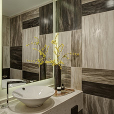 Contemporary Powder Room by Handman Associates