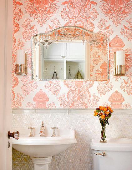 Traditional Powder Room by Alan Design Studio