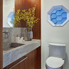 Contemporary Powder Room by Beauparlant Design inc