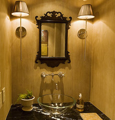 eclectic powder room by huntley & co