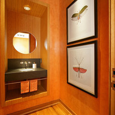 Contemporary Powder Room by Domiteaux + Baggett Architects, PLLC