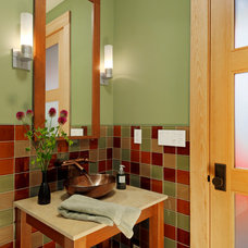 Traditional Powder Room by Blox Construction