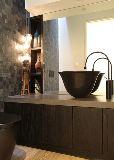 Contemporary Powder Room by LGDesign