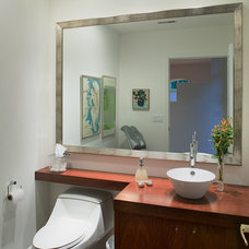 Contemporary Powder Room by Wright Street Design Group Inc.