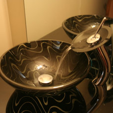 Traditional Powder Room by MSD Custom Homes & Remodeling