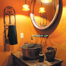 Rustic Powder Room by Bayliss Architects P C