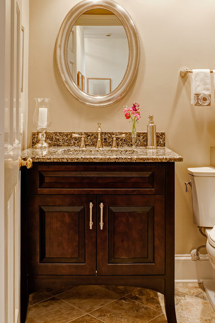 Traditional Powder Room by Case Remodeling