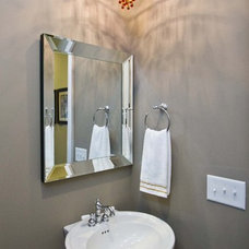 Traditional Powder Room by plantation building corp