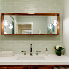 Contemporary Powder Room by Farallon Construction Inc.