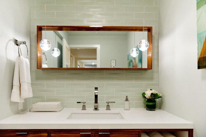 Contemporary Powder Room by Farallon Construction Inc.