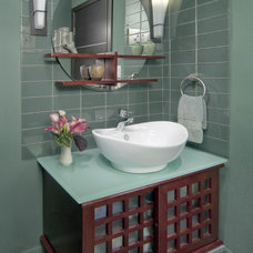 Asian Powder Room by Artful Design Interiors
