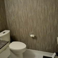 Contemporary Powder Room by Emily Tait Designs