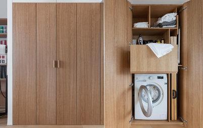 Просто фото: Как спрятать стиральную машину