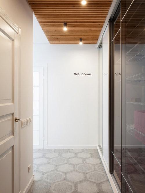 entr e scandinave avec un sol en carrelage de c ramique photos et id es d co d 39 entr es de. Black Bedroom Furniture Sets. Home Design Ideas