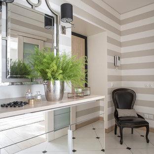 Неиссякаемый источник вдохновения для домашнего уюта: входная дверь в современном стиле с входной дверью из светлого дерева