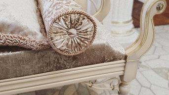 Золочение холла и мебели коттеджа