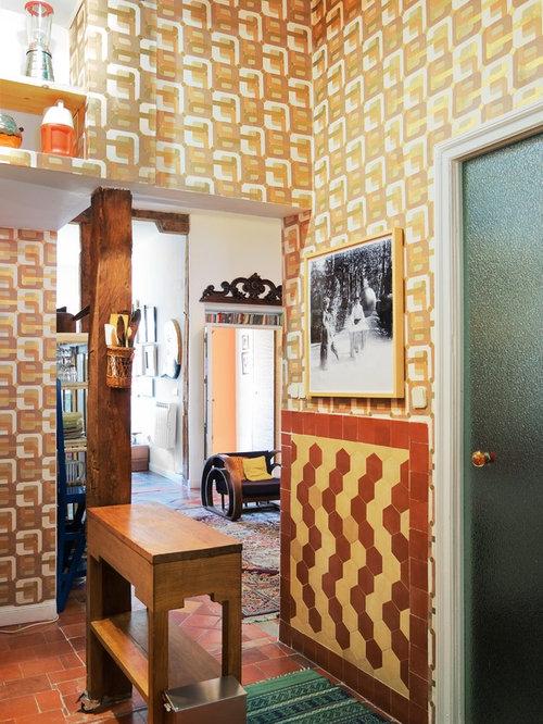 kleiner flur mit terrakottaboden design ideen bilder. Black Bedroom Furniture Sets. Home Design Ideas