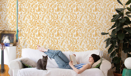 5 tipos de papel pintado para el salón que adoramos en Houzz
