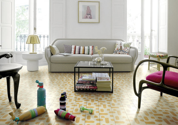 Midcentury Family Room by Bisazza Italy