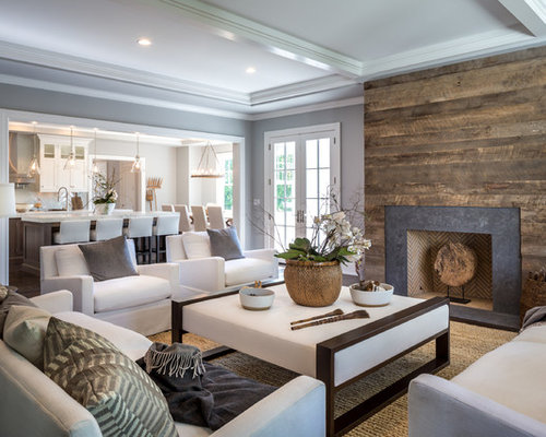 Transitional Family Room Design Ideas Remodels Amp Photos