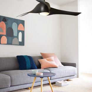 CASA BRUNO salón con ventilador de techo Artemis negro