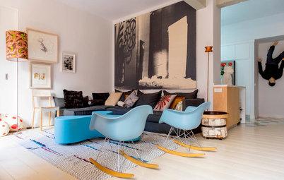 元ギャラリーオーナーが暮らす、アートあふれるアパートメント