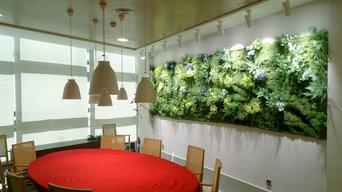 """Jardín vertical """"Muros Frescos"""" en las oficinas de la firma Estrella Damm"""