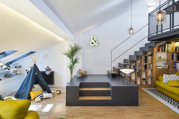 Contemporary Family & Games Room by Egue y Seta
