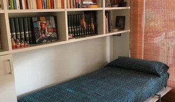 Libreria con cama abatible en Barcelona