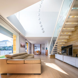 Living room - E House by 08023 Architects