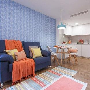 Diseño de sala de estar minimalista pequeña