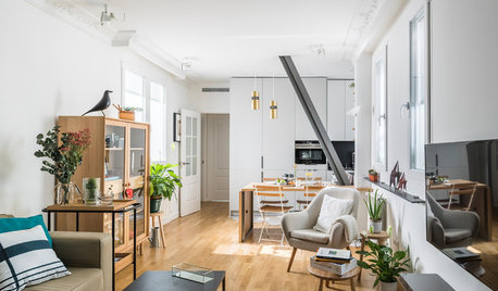 Houzz Tour: Small Space Tricks Make a Flat Big Enough for Guests