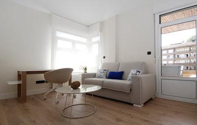 Casas Houzz: Un piso práctico para una joven pareja y sus dos hijos